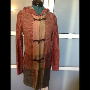 Anthropologie Wool Blend Sweater Coat by Sparrow